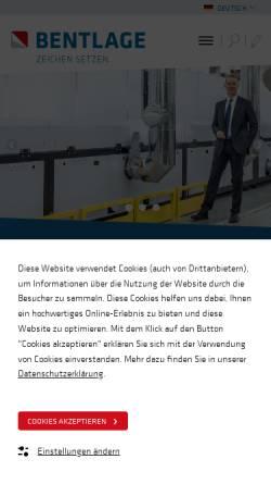 Vorschau der mobilen Webseite www.bsb.eu, Bsb-bentlage GmbH & Co. KG