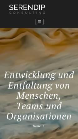 Vorschau der mobilen Webseite www.serendip.at, Serendip Consulting Andreas Ebhart GmbH