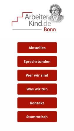 Vorschau der mobilen Webseite arbeiterkind-bonn.de, ArbeiterKind-Bonn.de