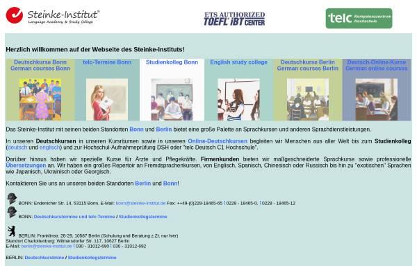 Vorschau von www.steinke-institut.de, Steinke-Institut