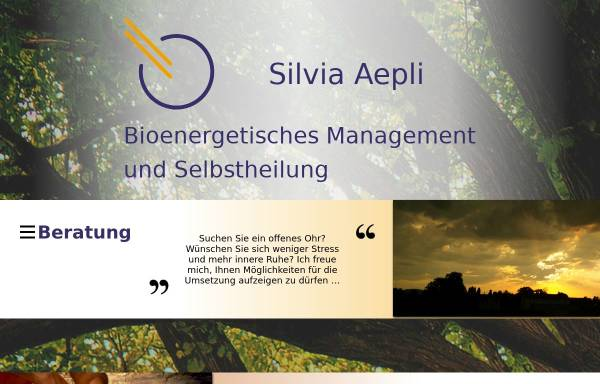 Vorschau von www.silvia-aepli.ch, Silvia Aepli - Praxis für spirituelle Psychologie