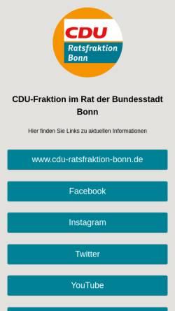 Vorschau der mobilen Webseite cdufraktion-bonn.de, CDU-Ratsfraktion im Bonner Stadtrat