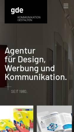 Vorschau der mobilen Webseite www.gde.de, GDE - Kommunikation gestalten