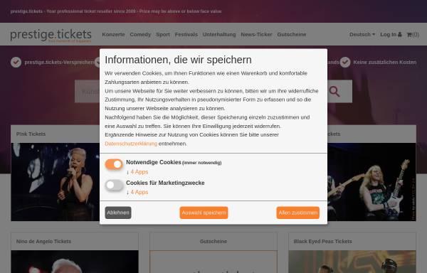 Vorschau von www.prestigetickets.de, Prestige-Tickets