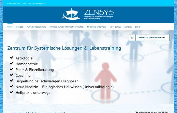 Vorschau von www.zensys.ch, ZENSYS Zentrum für Systemische Lösungen - Familienaufstellungen