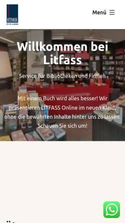 Vorschau der mobilen Webseite www.litfass-buecher.de, LITFASS Bücher und Medien Inh. Wolfgang Thönes e.K.
