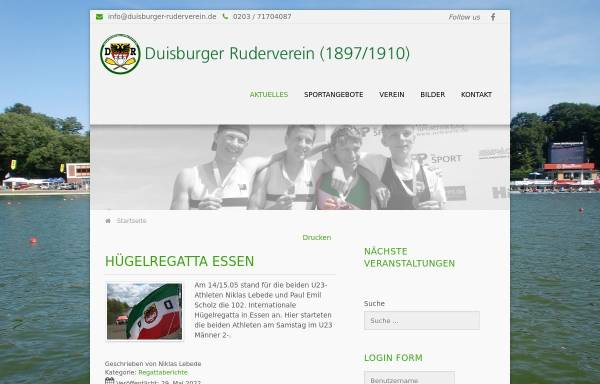 Vorschau von www.duisburger-ruderverein.de, Duisburger Ruderverein e. V.
