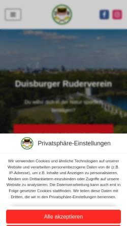 Vorschau der mobilen Webseite www.duisburger-ruderverein.de, Duisburger Ruderverein e. V.