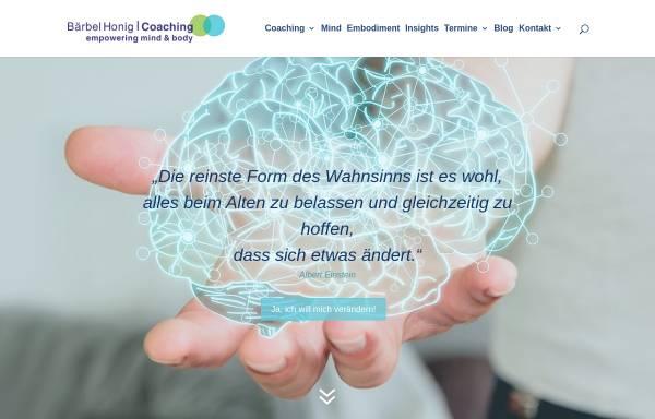 Vorschau von www.honig-coaching.de, Tief Bewegt - Bärbel Honig