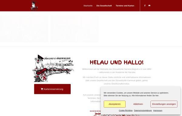 Vorschau von www.narrencollegium.de, Düsseldorfer Narrencollegium