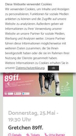 Vorschau der mobilen Webseite www.komoedie-duesseldorf.com, Komödie Boulevard-Theater