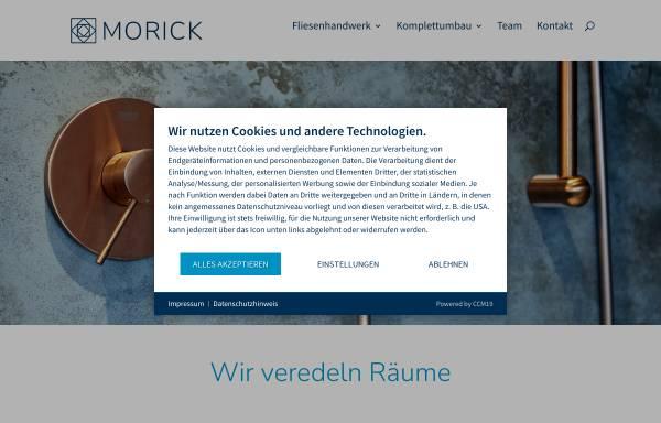 Vorschau von www.morick.com, Fliesenlegerbetrieb Morick
