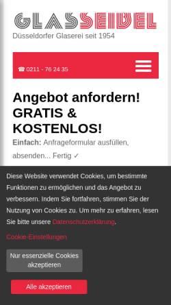 Vorschau der mobilen Webseite www.glasseibel.de, Glaserei Seibel