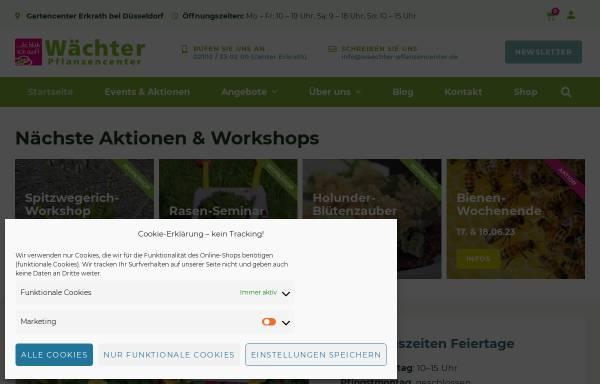 Vorschau von www.waechter-pflanzencenter.de, Wächter Pflanzencenter