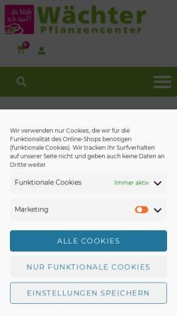 Vorschau der mobilen Webseite www.waechter-pflanzencenter.de, Wächter Pflanzencenter
