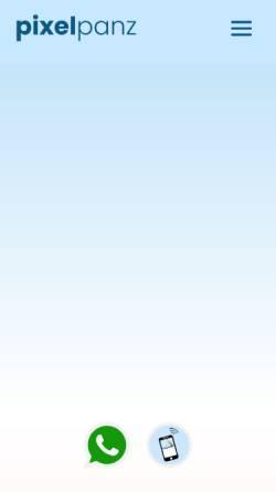 Vorschau der mobilen Webseite www.pixelpanz.de, Pixelpanz, Stephanie Panz