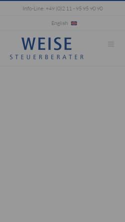 Vorschau der mobilen Webseite www.weise-steuerberater.de, Weise Steuerberater