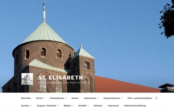 Vorschau von st-elisabeth-essen.de, Katholische Pfarrgemeinde St. Elisabeth Essen-Frohnhausen