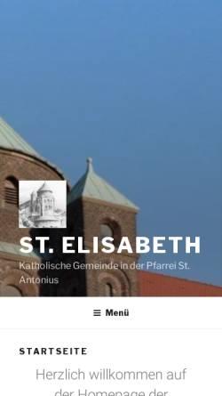 Vorschau der mobilen Webseite st-elisabeth-essen.de, Katholische Pfarrgemeinde St. Elisabeth Essen-Frohnhausen