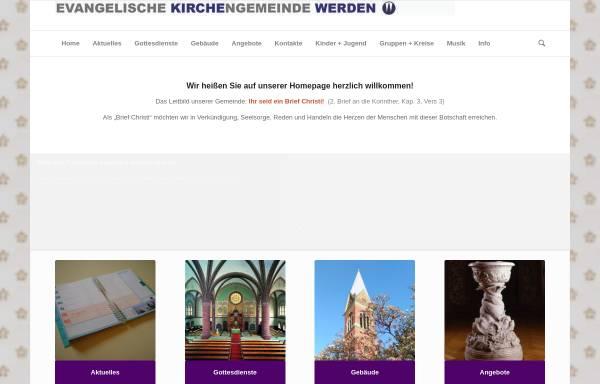Vorschau von www.kirche-werden.de, Evangelische Kirchengemeinde Werden
