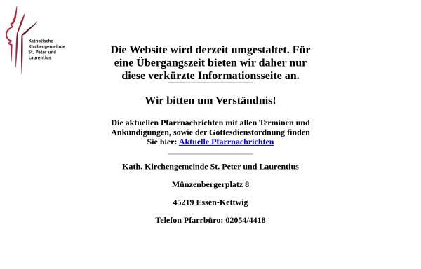 Vorschau von st-peter-und-laurentius.de, Pfarrgemeinde St Peter und Laurentius