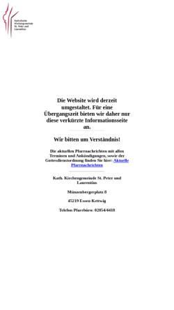 Vorschau der mobilen Webseite st-peter-und-laurentius.de, Pfarrgemeinde St Peter und Laurentius