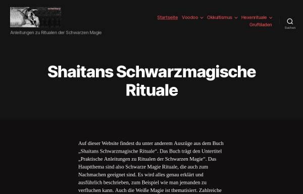 Vorschau von schwarzemagie.net, Shaitans Schwarzmagische Rituale