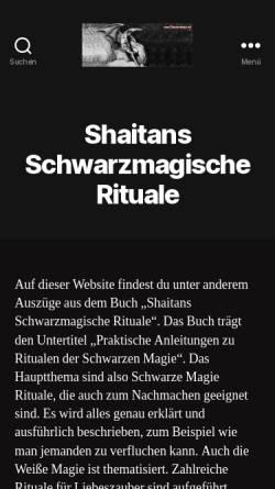 Vorschau der mobilen Webseite schwarzemagie.net, Shaitans Schwarzmagische Rituale