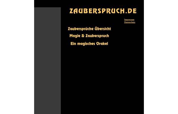 Vorschau von www.zauberspruch.de, Zaubersprüche