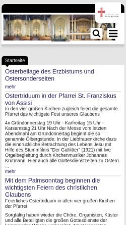 Vorschau der mobilen Webseite www.liebfrauen-hamm.de, Kath. Pfarrei Liebfrauen