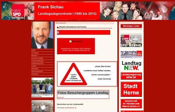 Vorschau von www.frank-sichau.de, Sichau, Frank (SPD)