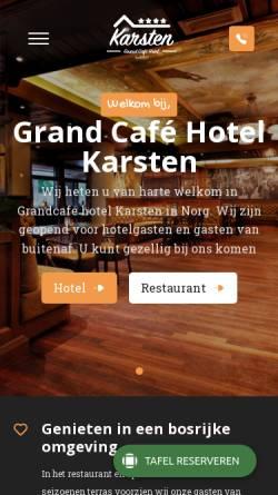 Vorschau der mobilen Webseite hotelkarsten.nl, Hotel Karsten