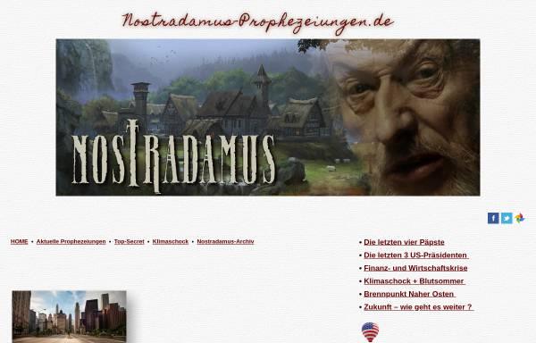 Vorschau von nostradamus-prophezeiungen.de, Nostradamus-Forscher Ray O. Nolan