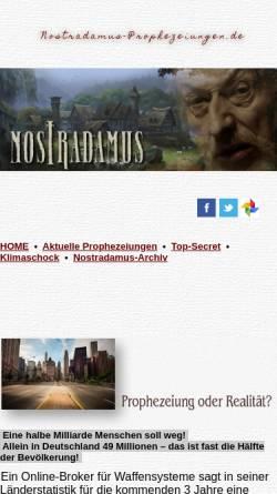 Vorschau der mobilen Webseite nostradamus-prophezeiungen.de, Nostradamus-Forscher Ray O. Nolan