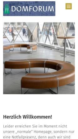 Vorschau der mobilen Webseite www.domforum.de, Domforum