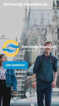 Vorschau der mobilen Webseite www.kjw-koeln.de, Katholische Jugendwerke in der Stadt Köln e.V.