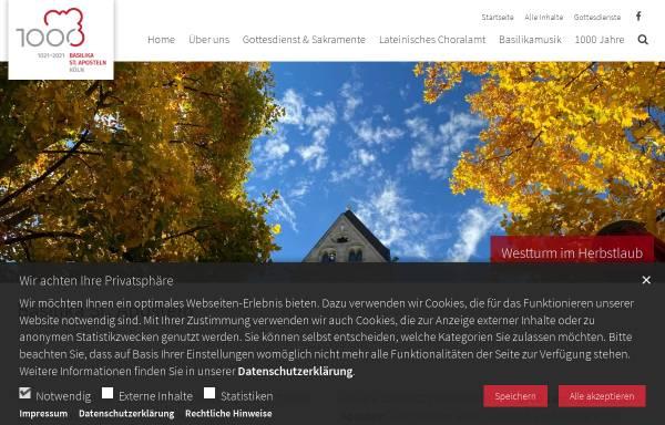 Vorschau von www.st-aposteln.de, Katholische Pfarrgemeinde St. Aposteln