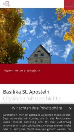 Vorschau der mobilen Webseite www.st-aposteln.de, Katholische Pfarrgemeinde St. Aposteln