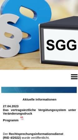 Vorschau der mobilen Webseite www.dg-kassenarztrecht.de, Deutsche Gesellschaft für Kassenarztrecht e.V.