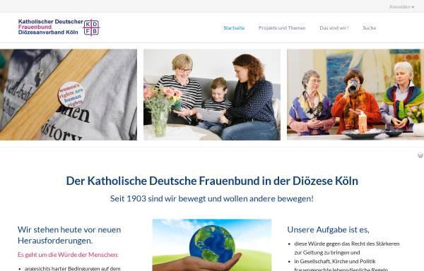 Vorschau von www.frauenbund-koeln.de, Katholischer Deutscher Frauenbund (KDFB), Diözesanverband Köln