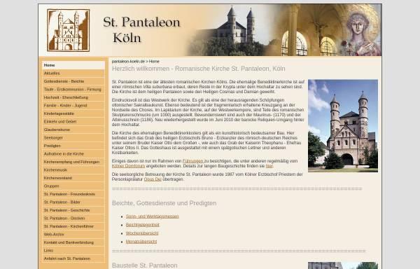 Vorschau von www.sankt-pantaleon.de, Katholische Pfarrgemeinde St. Pantaleon