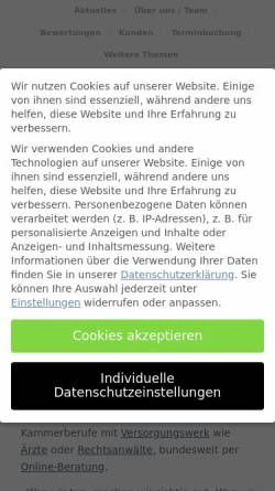Vorschau der mobilen Webseite schlemann.com, Dr. Schlemann unabhängige Finanzberatung Köln e.K.