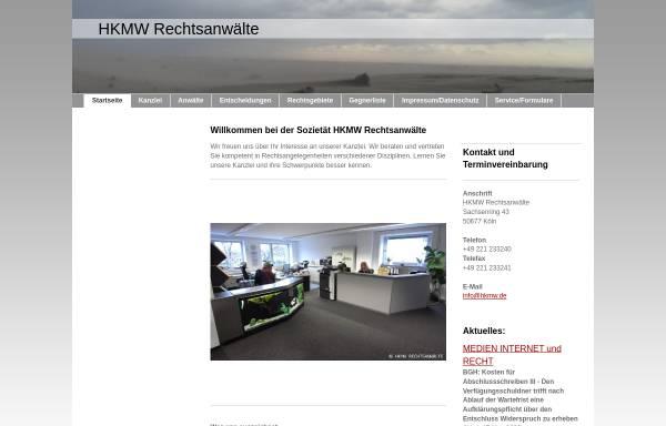 Vorschau von www.hkmw-rechtsanwaelte.de, HKMW Rechtsanwälte Benedikt Maria Heimann u. Malte Mörger GbR