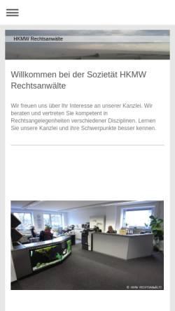 Vorschau der mobilen Webseite www.hkmw-rechtsanwaelte.de, HKMW Rechtsanwälte Benedikt Maria Heimann u. Malte Mörger GbR