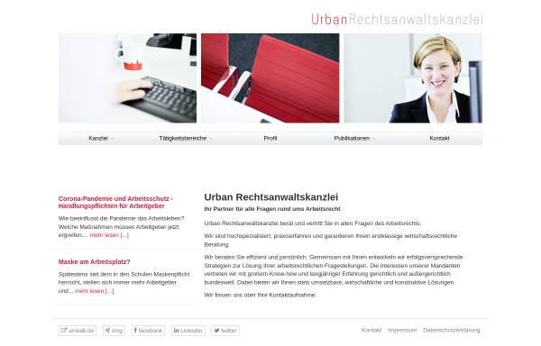 Vorschau von www.urbanrechtsanwaltskanzlei.de, Urban Rechtsanwaltskanzlei
