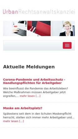 Vorschau der mobilen Webseite www.urbanrechtsanwaltskanzlei.de, Urban Rechtsanwaltskanzlei