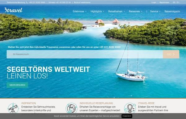 Vorschau von www.itravel.de, itravel Individual Travel GmbH
