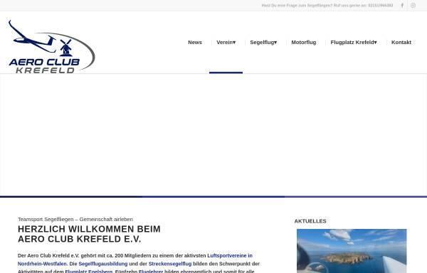 Vorschau von www.ackrefeld.de, Aero Club Krefeld e.V.