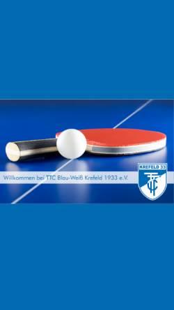 Vorschau der mobilen Webseite bw-krefeld.de, TTC Blau-Weiss Krefeld