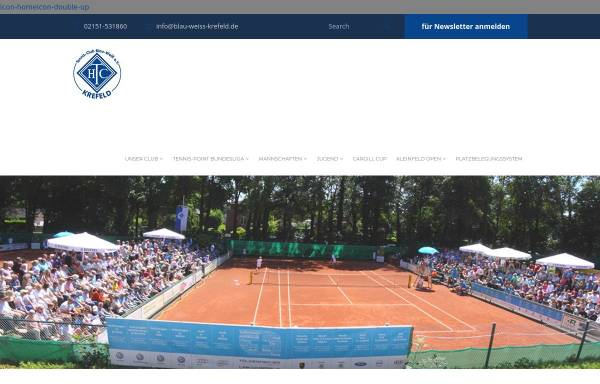 Vorschau von www.blau-weiss-krefeld.de, HTC Blau-Weiß Krefeld
